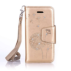 PU Leather Material Dandelion Pattern The Drill Phone Case for  iPhone 6s Plus / 6 Plus/6S/6