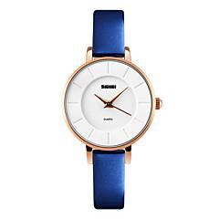 Skmei®Fashion Women Quartz Leather Strap Alloy Wrist Watch 30m Waterproof Assorted Colors