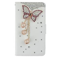 Voor Samsung Galaxy Note Kaarthouder / Portemonnee / Strass / met standaard / Flip hoesje Volledige behuizing hoesje 3D cartoon Hard
