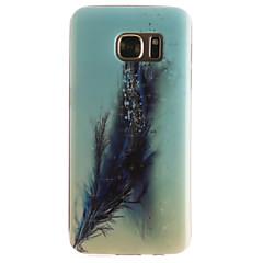 Voor Samsung Galaxy S7 Edge Patroon hoesje Achterkantje hoesje Veer Zacht TPU SamsungS7 edge / S7 / S6 edge / S6 / S5 Mini / S5 / S4 Mini