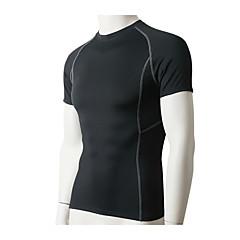 Herre Kort Ærme Løb T-Shirt Kompressionstøj Sweatshirt Åndbart Hurtigtørrende Komprimering Svedreducerende Strækbart SportstøjTræning &