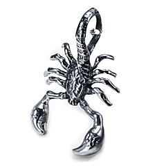la personalidad de los hombres de titanio colgante de escorpión