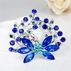 syksyllä uusi muoti hieno sininen kasvi tekojalokivi rintakoruja häät