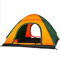 3-4 사람 텐트 트리플 자동 텐트 원 룸 캠핑 텐트 1500-2000 mm 수분 방지 통풍 잘되는 방수 자외선 방지 통기성-수렵 하이킹 피싱 바닷가 캠핑 여행 야외 실내-