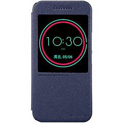 Voor HTC hoesje met standaard / met venster / Automatisch aan/uit hoesje Volledige behuizing hoesje Effen kleur Hard PU-leer HTC