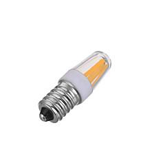 Marsing E14 Dimmable 3W 300lm 4-COB LED Warm/Cool White Light Filament Bulb(AC220V)