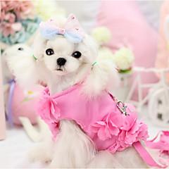 Σκυλιά Σαμαράκια Ρούχα για σκύλους με λουρί Μονόχρωμο Βυσσινί Μπλε Ροζ