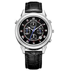 Hombre Reloj de Vestir / Reloj de Pulsera Cuarzo Calendario / Cronógrafo / / Piel Banda Casual Negro Marca