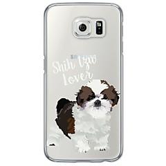 Mert Samsung Galaxy S7 Edge Ultra-vékeny / Áttetsző Case Hátlap Case Kutya Puha TPU SamsungS7 edge / S7 / S6 edge plus / S6 edge / S6 /