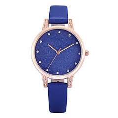 REBIRTH Women's Simple Fashion Watch Slim PU Leather Strap Quartz Wrist Watch