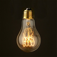 40W 2700K Vintage Edison λαμπτήρα A19 μέσο αντίκες στυλ του νήματος των λαμπτήρων πυρακτώσεως (AC220-240V)