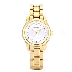 לנשים שעוני שמלה / שעוני אופנה קווארץ שעונים יום יומיים סגסוגת להקה יום יומי זהב / זהב ורד מותג