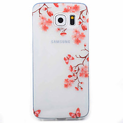 Coque Motif Fleur TPU Doux Couverture de cas pour Samsung Galaxy S7 edge / S7 / S6 edge / S6 / S5