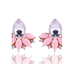 Γυναικεία Κουμπωτά Σκουλαρίκια Κρυστάλλινο Γεωμετρικό κοστούμι κοστουμιών Φλοράλ Κρύσταλλο Κράμα Flower Shape Κοσμήματα Για Πάρτι