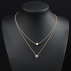 May Polly  European and American fashion zircon sphere Necklace