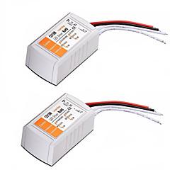 2pcsac 110-240 de convertidor de voltaje de corriente continua 12v 18w llevado