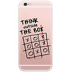 Til iPhone X iPhone 8 iPhone 6 iPhone 6 Plus Etuier Mønster Bagcover Etui Ord / sætning Hårdt PC for Apple iPhone X iPhone 8 Plus iPhone