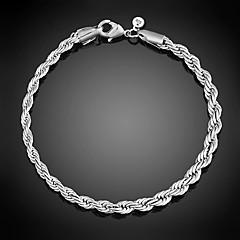 Γυναικεία Βραχιόλια με Αλυσίδα & Κούμπωμα Πανκ Στυλ Προσαρμόσιμη Λατρευτός Εμπνευστικό Ασήμι Στερλίνας Line Shape Κοσμήματα Ασημί