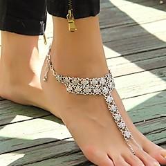 Kadın's Ayak bileziği/Bilezikler Altın Kaplama alaşım Eşsiz Tasarım Sexy Avrupa Moda minimalist tarzı Eski Tip Punk Tarzı Mücevher Gümüş