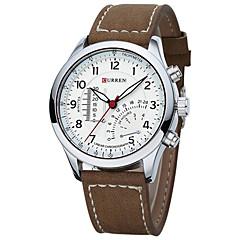 Masculino Relógio de Moda / Relógio de Pulso Quartzo Japonês Impermeável / Luminoso Couro Banda Legal Marrom / Cáqui marca
