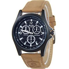 Masculino Relógio de Moda / Relógio de Pulso Quartz / Couro Banda Legal / Casual Marrom / Cáqui marca
