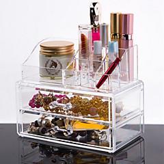 Organizador para Maquiagem Caixa de Cosméticos / Organizador para Maquiagem Plástico / Acrílico Cor Única 18.5*10*15.5 cm Transparentes