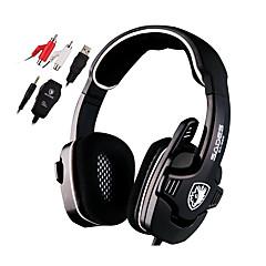 Sades SA922 Fejhallgatók (fejpánt)ForMédialejátszó/tablet / SzámítógépWithMikrofonnal / DJ / Hangerő szabályozás / FM Rádió / Játszás /