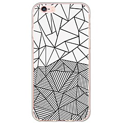 For iPhone 6 etui iPhone 6 Plus etui Ultratyndt Gennemsigtig Etui Bagcover Etui Geometrisk mønster Blødt TPU for AppleiPhone 6s Plus/6