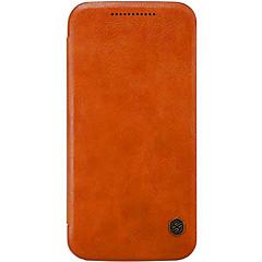 Voor Motorola hoesje Kaarthouder / Flip hoesje Volledige behuizing hoesje Effen kleur Hard Echt leer Motorola Moto X Play