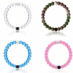 4 Color Silicone Strand Bead Sports Bracelet Jewelry with Everest Water and Dead Sea Mud