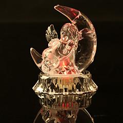 1 stk ledet kreativ akryl krystall glans ferie gave valentine innendørs dekorasjoner nattlys