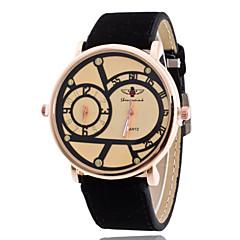Dames Modieus horloge Hol Gegraveerd Kwarts PU Band Glitter Bedeltjes Cool Zwart Blauw Bruin