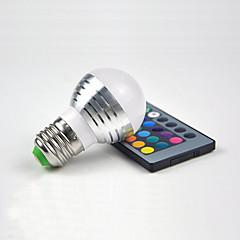kreativa 3w dekoration ljus e27 rgb fjärrstyrd dimbara aluminium julnatten ljus heminredning