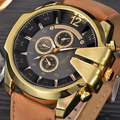 Hombre Reloj Deportivo Reloj Militar Reloj de Vestir Reloj de Moda Reloj de Pulsera Cuarzo Calendario Punk Piel Banda Cosecha Cool Casual