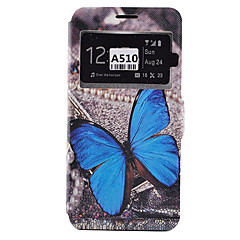 Voor Samsung Galaxy hoesje Kaarthouder / Schokbestendig / Stofbestendig / met standaard hoesje Volledige behuizing hoesje Vlinder Zacht