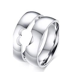 Anéis Borlas / Fashion / Vintage Casamento / Pesta / Diário / Casual Jóias Aço Titânio Feminino / Masculino / Casal Anéis de Casal 1 par,