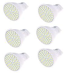 5 GU10 LED 스팟 조명 MR16 80 SMD 2835 450 lm 따뜻한 화이트 / 차가운 화이트 장식 AC 220-240 V 6개