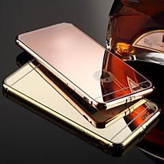 Kompatibilitás iPhone X iPhone 8 iPhone 8 Plus iPhone 6 iPhone 6 Plus tokok Galvanizálás Tükör Hátlap Case Tömör szín Kemény Fém mert
