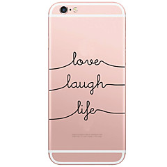 Achterkant Patroon Word / Phrase PC Hard Geval voor Apple iPhone 6s Plus/6 Plus / iPhone 6s/6 / iPhone SE/5s/5