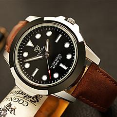 Hombre Reloj de Vestir / Reloj de Pulsera Cuarzo / PU Banda Casual Negro / Marrón Marca