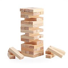 παζλ Επιτραπέζιο παιχνίδι Ξύλινος κύβος Πύργος στοίβαξης Δομικά στοιχεία DIY παιχνίδια Τετράγωνο 48