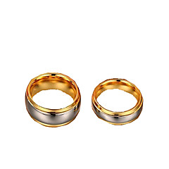 Ring,Band Rings,Jewelry Tungsten Steel Fashionable Daily / Casual Gold / Silver 1pc,6 / 7 / 8 / 9 / 10 / 11 Couples