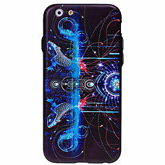 3D Three-Dimensional Relief Pattern Glare Material TPU PC Combo Phone Casefor iPhone 6S 6 Plus