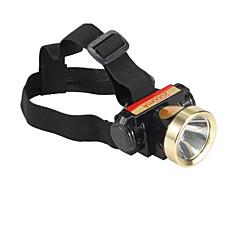 Linternas de Cabeza LED 2 Modo 240 Lumens A Prueba de Agua / Recargable LED Batería de Litio Con De Uso Diario / Caza-Otros,NegroAleación