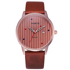 Mens Casual Watch Wristwatch Genuine Leather Date Day Display Montre Reloj Relogio MasculinoBrand Quartz Watch