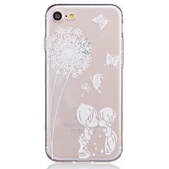 Voor iPhone 7 hoesje / iPhone 7 Plus hoesje / iPhone 6 hoesje Transparant / Reliëfopdruk / Patroon hoesje Achterkantje hoesje Paardenbloem