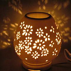1pc Keramik-Plug-in-Elektro, die Licht aushöhlen Duftlampe wenig Nachtlicht bewegen