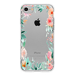 For iPhone 7 etui / iPhone 7 Plus etui / iPhone 6 etui Mønster Etui Bagcover Etui Blomst Blødt TPU for AppleiPhone 7 Plus / iPhone 7 /
