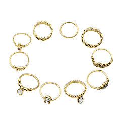 Gold Silver Plated Midi Rings Set for Women