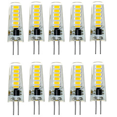 7W G4 Luces LED de Doble Pin T 12 SMD 5733 500-600 lm Blanco Cálido / Blanco Fresco Decorativa / Impermeable DC 12 V 10 piezas